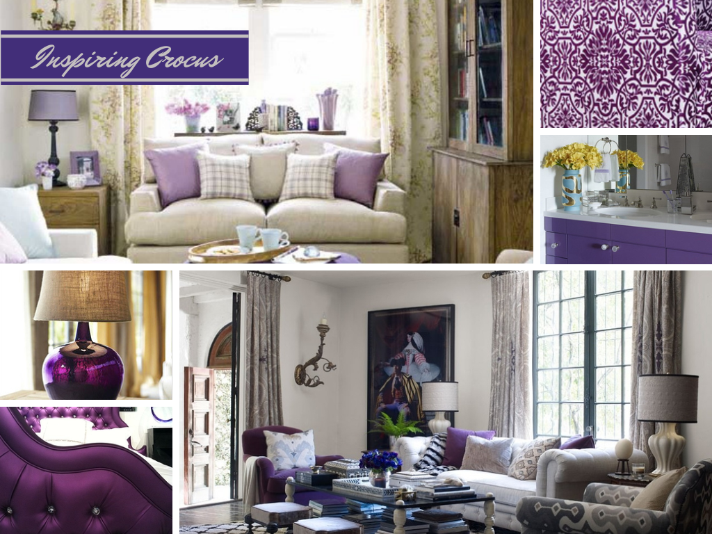 spring inspired decor: crocus purple